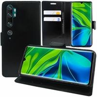 """Xiaomi Mi Note 10/ Note 10 Pro 6.47"""" M1910F4G [Les Dimensions EXACTES du telephone: 157.8 x 74.2 x 9.7 mm]: Etui portefeuille Support Video cuir PU - NOIR"""
