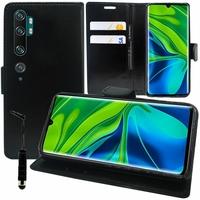 "Xiaomi Mi Note 10/ Note 10 Pro 6.47"" M1910F4G [Les Dimensions EXACTES du telephone: 157.8 x 74.2 x 9.7 mm]: Etui portefeuille Support Video cuir PU + mini Stylet - NOIR"