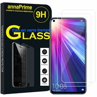"""Huawei P40 Lite/ Nova 6 SE 6.4"""" JNY-L21A L01A L21B L22A L02A L22B LX1 AL10 TL10 (non compatible Huawei P40 lite E 6.39""""): Lot / Pack de 2 Films de protection d'écran Verre Trempé"""