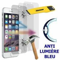 """Apple iPhone SE (2020) 4.7""""/ SE2/ SE (2nd generation) A2275 A2296 A2298 (non compatible iPhone SE 2016 4.0""""): Lot/ Pack de 3 Films Écran Verre Trempé Anti Lumière Bleu"""