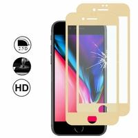 """Apple iPhone SE (2020) 4.7""""/ SE2/ SE (2nd generation) A2275 A2296 A2298 (non compatible iPhone SE 2016 4.0""""): Lot/ Pack de 2 Films en Verre Trempé Bord Incurvé Resistant"""