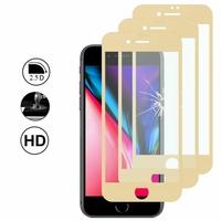 """Apple iPhone SE (2020) 4.7""""/ SE2/ SE (2nd generation) A2275 A2296 A2298 (non compatible iPhone SE 2016 4.0""""): Lot/ Pack de 3 Films en Verre Trempé Bord Incurvé Resistant"""