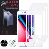 """Apple iPhone SE (2020) 4.7""""/ SE2/ SE (2nd generation) A2275 A2296 A2298 (non compatible iPhone SE 2016 4.0""""): Lot / Pack de 3 Films de protection d'écran Verre Trempé"""