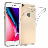 """Apple iPhone SE (2020) 4.7""""/ SE2/ SE (2nd generation) A2275 A2296 A2298 (non compatible iPhone SE 2016 4.0""""): Coque Silicone gel UltraSlim et Ajustement parfait - TRANSPARENT"""