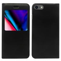 """Apple iPhone SE (2020) 4.7""""/ SE2/ SE (2nd generation) A2275 A2296 A2298 (non compatible iPhone SE 2016 4.0""""): Housse a? fenêtre S-View fonction - NOIR"""