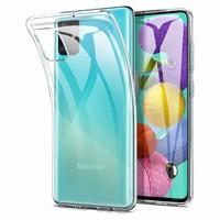 """Samsung Galaxy A51 6.5"""" SM-A515F, A515FN, A515GN, A515FM, A515YN, A515W, A515X, A515F/DSN: Coque Silicone gel UltraSlim et Ajustement parfait - TRANSPARENT"""