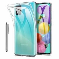 """Samsung Galaxy A51 6.5"""" SM-A515F, A515FN, A515GN, A515FM, A515YN, A515W, A515X, A515F/DSN: Coque Silicone gel UltraSlim et Ajustement parfait + Stylet - TRANSPARENT"""