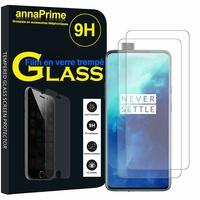 """OnePlus 7T Pro 6.67"""" HD1911 HD1913 HD1910 (non compatible OnePlus 7T 6.55""""): Lot / Pack de 2 Films de protection d'écran Verre Trempé"""
