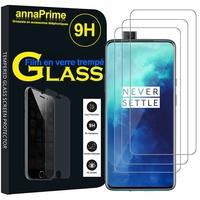 """OnePlus 7T Pro 6.67"""" HD1911 HD1913 HD1910 (non compatible OnePlus 7T 6.55""""): Lot / Pack de 3 Films de protection d'écran Verre Trempé"""