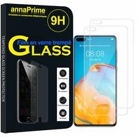 """Huawei P40 6.1"""" ANA-LNX9 ANA-LX4 ANA-AN00 ANA-TN00 (non compatible Huawei P40 Pro/ P40 Pro+/ P40 lite): Lot / Pack de 2 Films de protection d'écran Verre Trempé"""