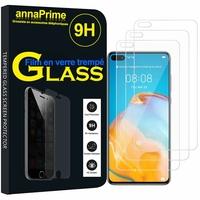 """Huawei P40 6.1"""" ANA-LNX9 ANA-LX4 ANA-AN00 ANA-TN00 (non compatible Huawei P40 Pro/ P40 Pro+/ P40 lite): Lot / Pack de 3 Films de protection d'écran Verre Trempé"""
