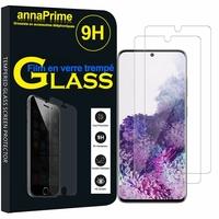 """Samsung Galaxy S20/ S20 5G 6.2"""" SM-G980 G980F (non compatible Galaxy S20+ Plus 6.7""""/ S20 Ultra 6.9""""): Lot / Pack de 2 Films de protection d'écran Verre Trempé"""