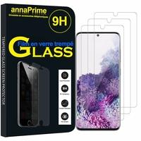 """Samsung Galaxy S20/ S20 5G 6.2"""" SM-G980 G980F (non compatible Galaxy S20+ Plus 6.7""""/ S20 Ultra 6.9""""): Lot / Pack de 3 Films de protection d'écran Verre Trempé"""
