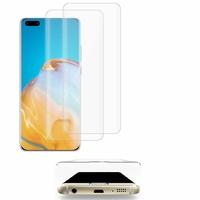 "Huawei P40 Pro 6.58"" ELS-NX9 ELS-N04 ELS-AN00 ELS-TN00 (non compatible Huawei P40 6.1""): Lot/ Pack de 2 Films en Verre Trempé Bord Incurvé Resistant"