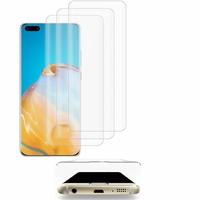 "Huawei P40 Pro 6.58"" ELS-NX9 ELS-N04 ELS-AN00 ELS-TN00 (non compatible Huawei P40 6.1""): Lot/ Pack de 3 Films en Verre Trempé Bord Incurvé Resistant"