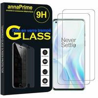 """OnePlus 8 6.55"""" (non compatible OnePlus 8 Pro 6.78"""") [Les Dimensions EXACTES du telephone: 160.2 x 72.9 x 8 mm]: Lot / Pack de 2 Films de protection d'écran Verre Trempé"""
