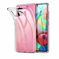"Samsung Galaxy A71 6.7"" SM-A715F A715F/DS A715F/DSN A715F/DSM [Les Dimensions EXACTES du telephone: 163.6 x 76 x 7.7 mm]: Coque Silicone gel UltraSlim et Ajustement parfait - TRANSPARENT"