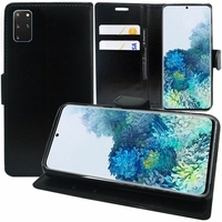 "Samsung Galaxy S20+ Plus/ S20+ 5G 6.7"" SM-G985 G985F SM-G986 (non compatible Galaxy S20 6.2""/ S20 Ultra 6.9""): Etui portefeuille Support Video cuir PU - NOIR"