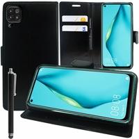 """Huawei P40 Lite/ Nova 6 SE 6.4"""" JNY-L21A L01A L21B L22A L02A L22B LX1 AL10 TL10 (non compatible Huawei P40 lite E 6.39""""): Etui portefeuille Support Video cuir PU + Stylet - NOIR"""