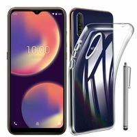 "Wiko View 4 6.52"" (non compatible Wiko View4 Lite) [Les Dimensions EXACTES du telephone: 165.7 x 75.8 x 8.85 mm]: Coque Silicone gel UltraSlim et Ajustement parfait + Stylet - TRANSPARENT"