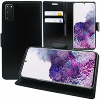"""Samsung Galaxy S20/ S20 5G 6.2"""" SM-G980 G980F (non compatible Galaxy S20+ Plus 6.7""""/ S20 Ultra 6.9""""): Etui portefeuille Support Video cuir PU - NOIR"""