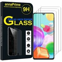 """Samsung Galaxy A41 6.1"""" SM-A415F A415F/DSN A415F/DSM [Les Dimensions EXACTES du telephone: 149.9 x 69.8 x 7.9 mm]: Lot / Pack de 3 Films de protection d'écran Verre Trempé"""