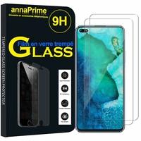 """Huawei Honor V30 Pro/ Honor View30 Pro 6.57"""" OXF-AN10 [Les Dimensions EXACTES du telephone: 162.7 x 75.8 x 8.8 mm]: Lot / Pack de 2 Films de protection d'écran Verre Trempé"""