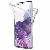 "Samsung Galaxy S20/ S20 5G 6.2"" SM-G980 G980F (non compatible Galaxy S20+ Plus 6.7""/ S20 Ultra 6.9""): Coque Avant et Arrière Silicone 360° protection intégrale  - TRANSPARENT"