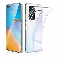 """Huawei P40 Pro 6.58"""" ELS-NX9 ELS-N04 ELS-AN00 ELS-TN00 (non compatible Huawei P40 6.1""""): Coque Silicone gel UltraSlim et Ajustement parfait - TRANSPARENT"""