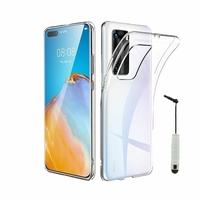 """Huawei P40 Pro 6.58"""" ELS-NX9 ELS-N04 ELS-AN00 ELS-TN00 (non compatible Huawei P40 6.1""""): Coque Silicone gel UltraSlim et Ajustement parfait + mini Stylet - TRANSPARENT"""