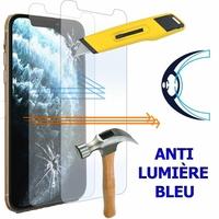 """Apple iPhone 11 Pro 5.8"""" A2215 A2160 A2217 (non compatible iPhone 11 6.1""""/ iPhone 11 Pro Max 6.5""""): Lot/ Pack de 2 Films Écran Verre Trempé Anti Lumière Bleu"""