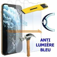 """Apple iPhone 11 Pro 5.8"""" A2215 A2160 A2217 (non compatible iPhone 11 6.1""""/ iPhone 11 Pro Max 6.5""""): Lot/ Pack de 3 Films Écran Verre Trempé Anti Lumière Bleu"""