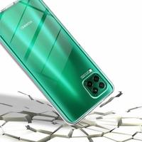 """Huawei Nova 7i/ P40 Lite 6.4"""": Coque Housse Silicone Gel TRANSPARENTE ultra mince 360° protection intégrale Avant et Arrière - TRANSPARENT + 3 Films de protection d'écran Verre Trempé"""