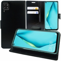 "Huawei Nova 7i/ P40 Lite 6.4"" JNY-L22B L21A L01A L21B L22A L02A LX2 (non compatible Huawei Nova 7/ Nova 7 SE/ Nova 7 Pro): Etui portefeuille Support Video cuir PU - NOIR"