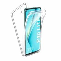"""Huawei Nova 7i/ P40 Lite 6.4"""" JNY-L22B L21A L01A L21B L22A L02A LX2 (non compatible Huawei Nova 7/ Nova 7 SE/ Nova 7 Pro): Coque Avant et Arrière Silicone 360° protection intégrale  - TRANSPARENT"""