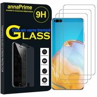 """Huawei P40 Pro 6.58"""" ELS-NX9 ELS-N04 ELS-AN00 ELS-TN00 (non compatible Huawei P40 6.1""""): Lot / Pack de 3 Films de protection d'écran Verre Trempé"""
