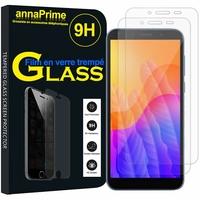 """Huawei Y5p/ Honor 9S 5.45"""" DRA-LX9 DUA-LX9 [Les Dimensions EXACTES du telephone: 146.5 x 70.9 x 8.4 mm]: Lot / Pack de 2 Films de protection d'écran Verre Trempé"""