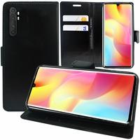 """Xiaomi Mi Note 10 Lite 6.47"""" M2002F4LG M1910F4G (non compatible Xiaomi Mi 10 Lite 5G 6.57"""") [Les Dimensions EXACTES du telephone: 157.8 x 74.2 x 9.7 mm]: Etui portefeuille Support Video cuir PU - NOIR"""