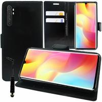 """Xiaomi Mi Note 10 Lite 6.47"""" M2002F4LG M1910F4G (non compatible Xiaomi Mi 10 Lite 5G 6.57"""") [Les Dimensions EXACTES du telephone: 157.8 x 74.2 x 9.7 mm]: Etui portefeuille Support Video cuir PU + mini Stylet - NOIR"""