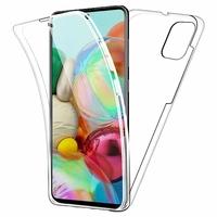 """Samsung Galaxy A71 6.7"""" SM-A715F A715F/DS A715F/DSN A715F/DSM [Les Dimensions EXACTES du telephone: 163.6 x 76 x 7.7 mm]: Coque Avant et Arrière Silicone 360° protection intégrale  - TRANSPARENT"""