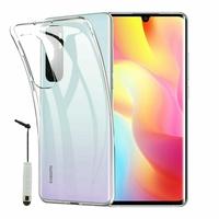 """Xiaomi Mi Note 10 Lite 6.47"""" M2002F4LG M1910F4G (non compatible Xiaomi Mi 10 Lite 5G 6.57"""") [Les Dimensions EXACTES du telephone: 157.8 x 74.2 x 9.7 mm]: Coque Silicone gel UltraSlim et Ajustement parfait + mini Stylet - TRANSPARENT"""