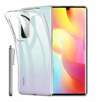 """Xiaomi Mi Note 10 Lite 6.47"""" M2002F4LG M1910F4G (non compatible Xiaomi Mi 10 Lite 5G 6.57"""") [Les Dimensions EXACTES du telephone: 157.8 x 74.2 x 9.7 mm]: Coque Silicone gel UltraSlim et Ajustement parfait + Stylet - TRANSPARENT"""