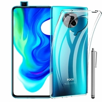 """Xiaomi Poco F2 Pro 5G 6.67""""/ Redmi K30 Pro/ K30 Pro Zoom M2004J11G [Les Dimensions EXACTES du telephone: 163.3 x 75.4 x 8.9 mm]: Coque Silicone gel UltraSlim et Ajustement parfait + Stylet - TRANSPARENT"""