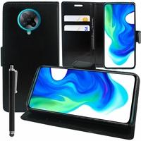 """Xiaomi Poco F2 Pro 5G 6.67""""/ Redmi K30 Pro/ K30 Pro Zoom M2004J11G [Les Dimensions EXACTES du telephone: 163.3 x 75.4 x 8.9 mm]: Etui portefeuille Support Video cuir PU + Stylet - NOIR"""