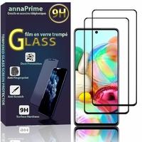 """Samsung Galaxy A71 6.7"""" SM-A715F A715F/DS A715F/DSN A715F/DSM [Les Dimensions EXACTES du telephone: 163.6 x 76 x 7.7 mm]: Lot / Pack de 2 Films de protection d'écran Verre Trempé"""