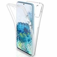 """Samsung Galaxy S20+ Plus/ S20+ 5G 6.7"""" SM-G985 G985F SM-G986 (non compatible Galaxy S20 6.2""""/ S20 Ultra 6.9""""): Coque Avant et Arrière Silicone 360° protection intégrale  - TRANSPARENT"""