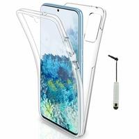 "Samsung Galaxy S20+ Plus/ S20+ 5G 6.7"" SM-G985 G985F SM-G986 (non compatible Galaxy S20 6.2""/ S20 Ultra 6.9""): Coque Avant et Arrière Silicone 360° protection intégrale  + mini Stylet - TRANSPARENT"