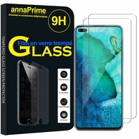 "Huawei Honor V30 Pro/ Honor View30 Pro 6.57"" OXF-AN10 [Les Dimensions EXACTES du telephone: 162.7 x 75.8 x 8.8 mm]: Lot / Pack de 2 Films de protection d'écran Verre Trempé"