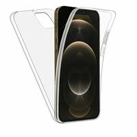 """Apple iPhone 12 Pro Max 6.7"""" A2411 A2342 A2410 A2412 (non compatible iPhone 12 Pro 6.1""""): Coque Avant et Arrière Silicone 360° protection intégrale  - TRANSPARENT"""