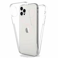 """Apple iPhone 12 Pro 6.1"""" A2407 A2341 A2406 A2408 (non compatible iPhone 12 Pro Max 6.7""""): Coque Avant et Arrière Silicone 360° protection intégrale  - TRANSPARENT"""